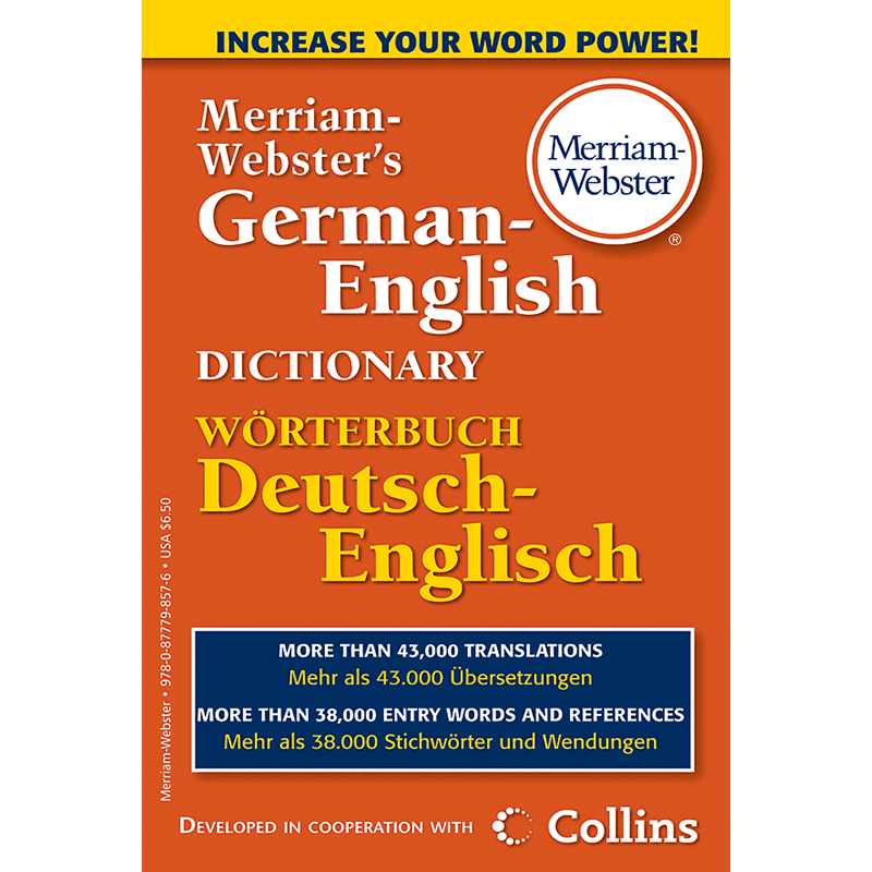 Merriam-Webster's German - English Dictionary