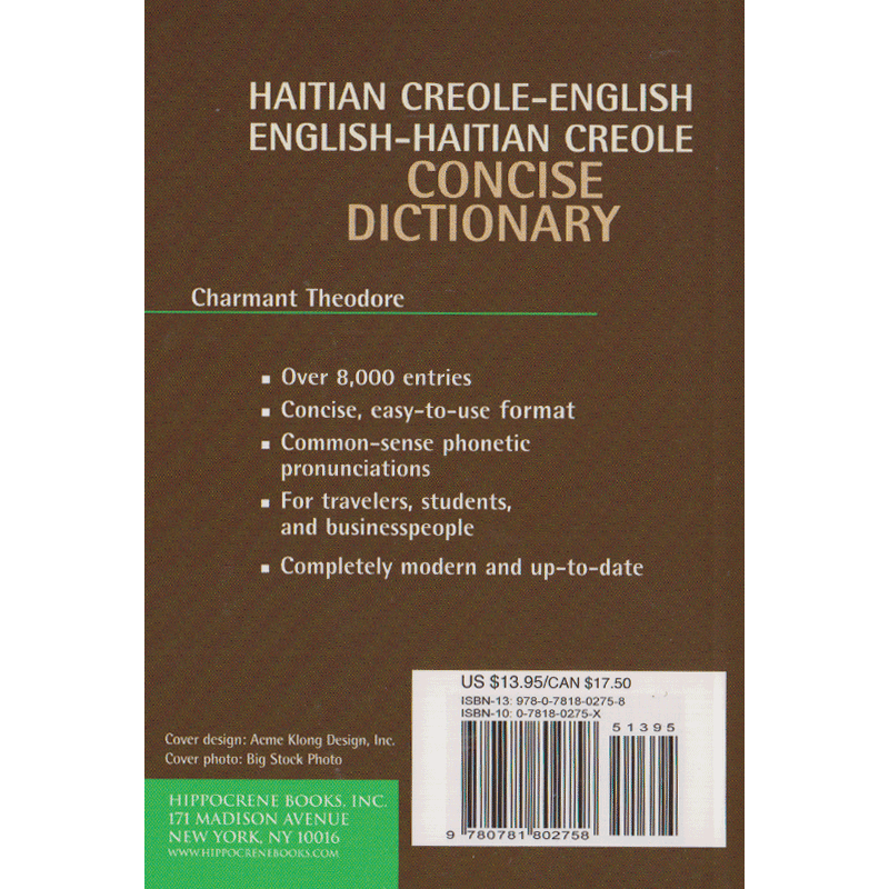 Haitian Creole / English Concise Dictionary